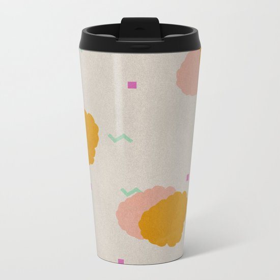 Raspberry Metal Travel Mug