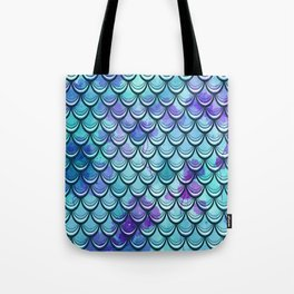 Mermaid Scales Watercolor Tote Bag