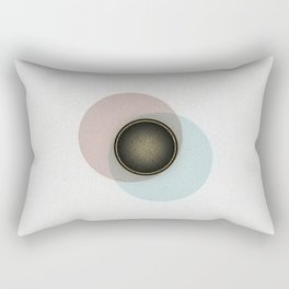Minimalistic Vintage Design with gold accents Rectangular Pillow