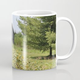 Barn and the sunflowers Coffee Mug