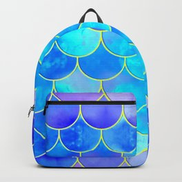 mermaid scale home design pattern Backpack