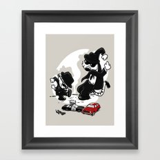 Calv and Hobbwood Framed Art Print