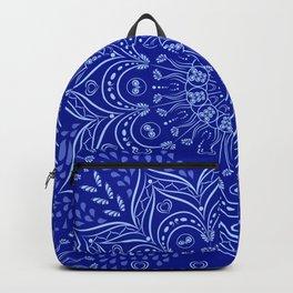 Blue Boho Mandala Backpack