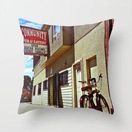 Community Pub & Eatery Throw Pillow
