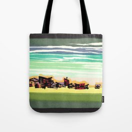 Railroad Town In The West Plains Of Nebraska 32 Tote Bag