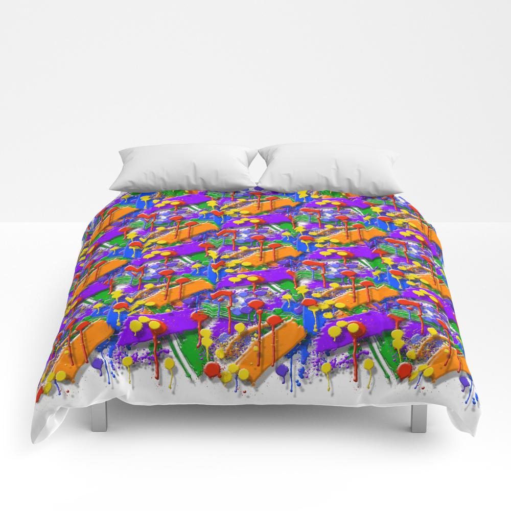 The Big O (drip Porn Pattern) Comforter by Wayneedsonbryan CMF856007