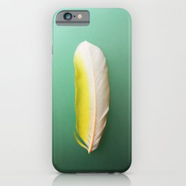 Single, Pale Yellow Feather iPhone Case