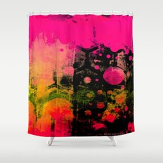 In a Pink and Black Mood Shower Curtain