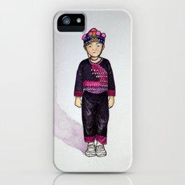 Hmong boy at Ban Tung Sai school iPhone Case