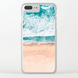 Faded ocean life Clear iPhone Case