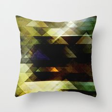 Mossy Green Abstract Throw Pillow