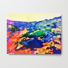 Mountain Foliage Metal Print