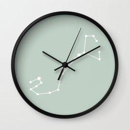 Scorpio Zodiac Constellation - Sage Wall Clock
