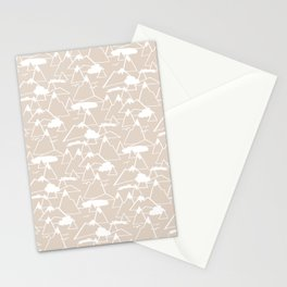 Mountain Scene in Beige Stationery Cards