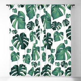 Tropical Monstera Pattern #3 #tropical #decor #art #society6 Blackout Curtain