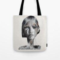 lara croft Tote Bags featuring Lara by Zaneta Antosik