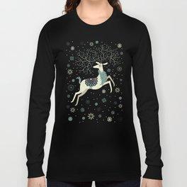 Prancing Reindeer Long Sleeve T-shirt