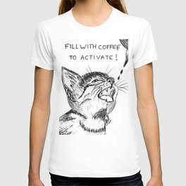 Fill with coffee to activate T-shirt