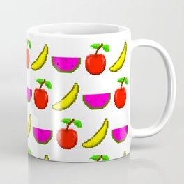 Retro Video Game Fruit Medley Pixel Art Coffee Mug