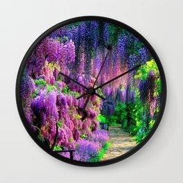 Wisteria garden Wall Clock