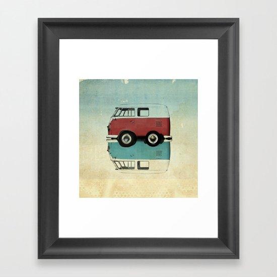 Kombi mini Framed Art Print