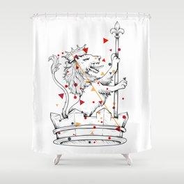 Crown Herald Lion KINGDOM Shower Curtain
