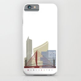 Manchester skyline poster iPhone Case