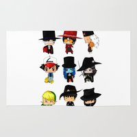 anime Area & Throw Rugs featuring Anime Hatters by artwaste