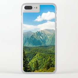 Carpathian Mountains Landscape, Summer Travel Landscape, Transylvania Mountains, Forests Of Romania Clear iPhone Case