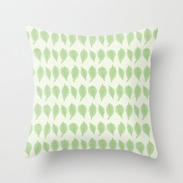 Campsis Radicans Leaves Pattern Throw Pillow