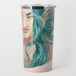 Aqua Blue  Travel Mug