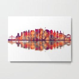 New Haven Skyline Metal Print