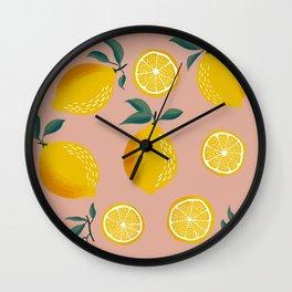 Pink Zest Wall Clock