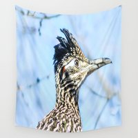 runner Wall Tapestries featuring Road runner by Marc Grannum-Photography