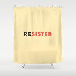 Sister Resister Feminist Art Print Shower Curtain