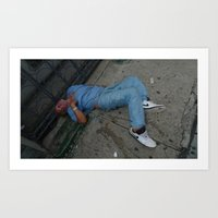 wasted rita Art Prints featuring Wasted by Sebastiano Carbone