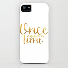 Once Upon a Time - Gold iPhone Case