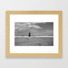 Off the sea Framed Art Print
