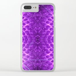 Purple Strawberry Suprise Clear iPhone Case
