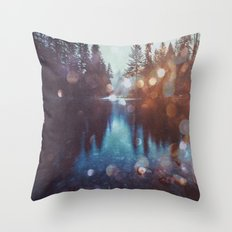 Forest Water Reflection - Magical Forest Reflection in Lake Throw Pillow