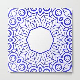 Mindful Mandala Pattern Tile MAPATI 179 Metal Print