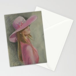 Lady in the hat Stationery Cards