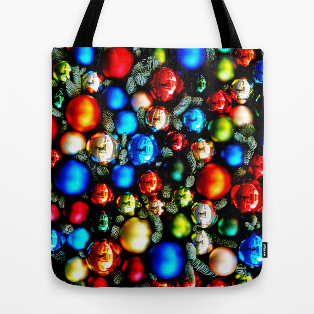 Christmas Tree Balls / Back Tote Purse by Ricardogime (TBG9942027) photo