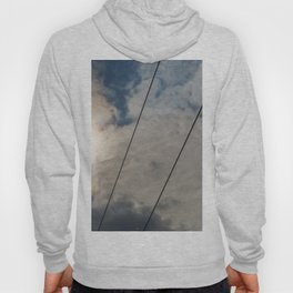 clouds and wire, abstract, no.02 Hoody