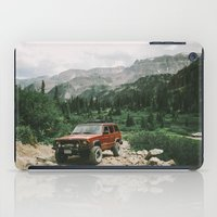 adventure is out there iPad Cases featuring Adventure Out by Natalie Allen