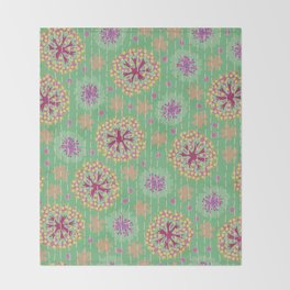 Kantha floral 8 Throw Blanket