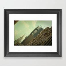 Skewed view Framed Art Print