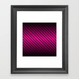 Pink and Black Gradient w/Black Lines Framed Art Print