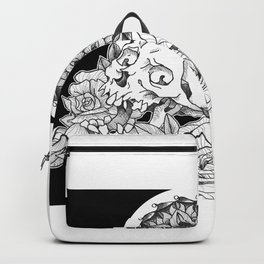 Skull and Flower Backpack