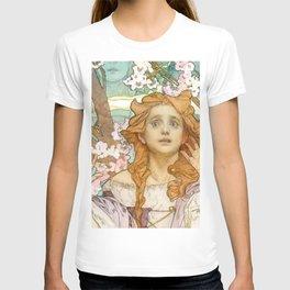 """Alphonse Mucha """"Maude Adams (1872–1953) as Joan of Arc"""" T-shirt"""